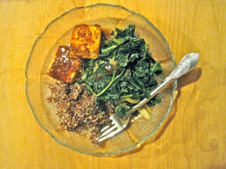broiled tofu, vegetarian dinner, vegan dinner