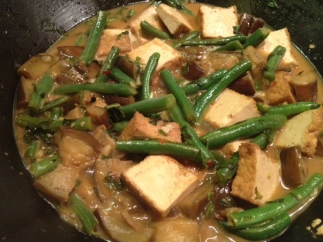 tofu stir fry, eggplant tofu stir fry, eggplant green bean tofu stir fry, eggplant, stir fry, milk and sugar, milk and sugar sisters, michelle stroebe